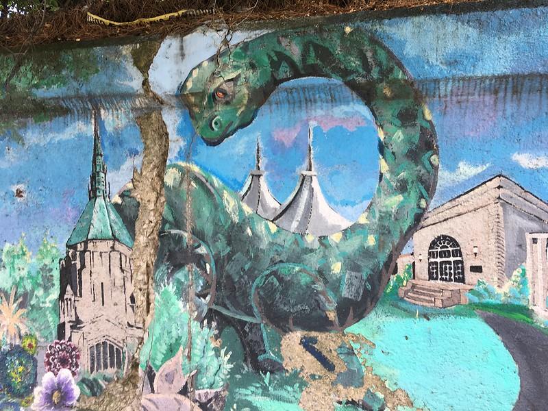 Cleveland Dinosaur Mural in Cleveland