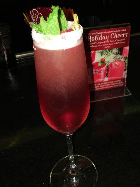 A refreshing holiday drink at Cabana Bay