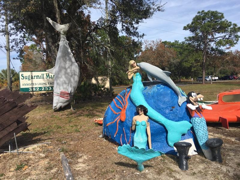 Manatee Tours Weird Statues