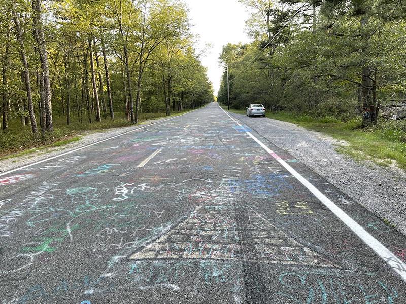 Graffiti on the road