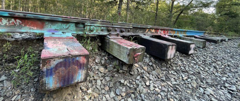 Tracks with Graffiti